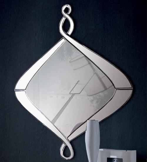 Espejo moderno de cristal ideal para dar originalidad y un for Cristal espejo