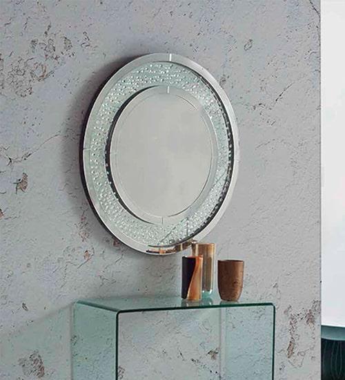 Espejo redondo cristal nicola como espejo redondo de for Espejo redondo recibidor