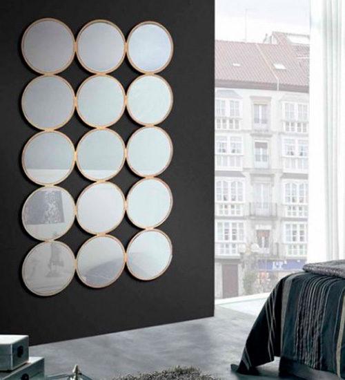 Espejo dorado grande realizado con los mejores materiales for Espejo dorado grande