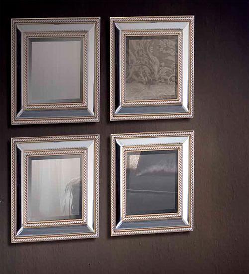 Espejos cuadrados de cristal para hogares modernos y con for Espejos modernos cristal