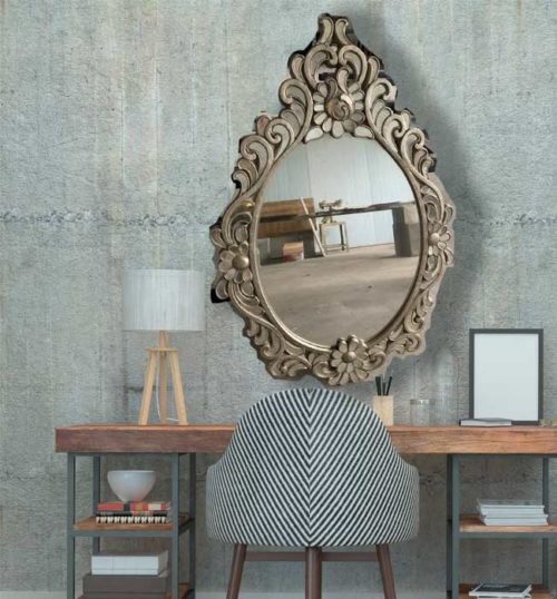 espejo Tetra plata