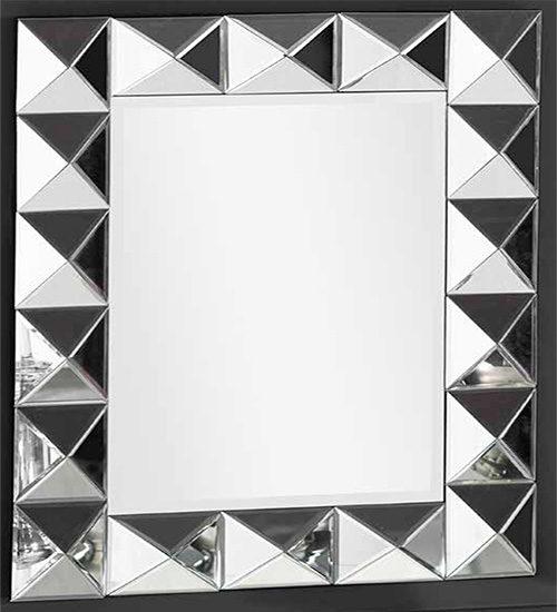 Espejo moldeado en plata perfecto para dar elegancia y for Espejo rectangular plateado