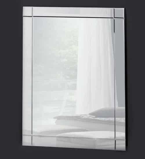 Espejo sencillo de cristal con un estilo elegante donde for Cristal espejo
