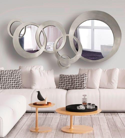 Espejo dise o italiano esferas art culo dis arte nico - Como colocar un espejo encima de un aparador ...