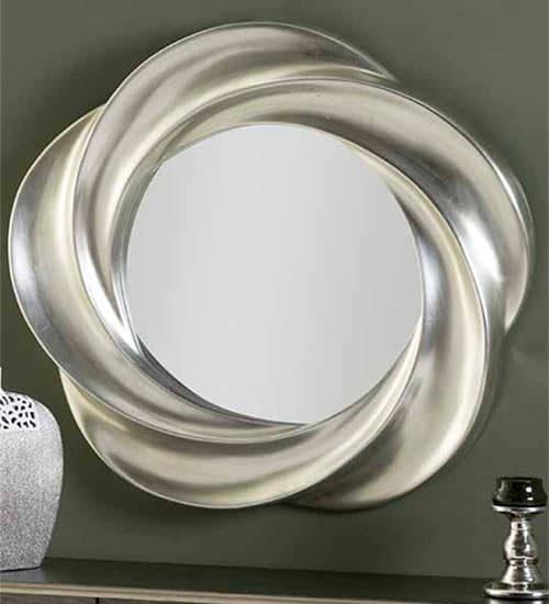 Espejo en plata moldeado ideal para hogares modernos for Espejo pared plata