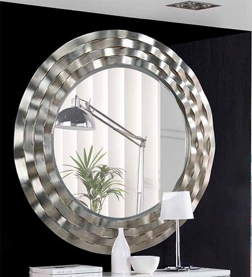 Espejo plateado novo dise o italiano pensado para la for Espejo vintage plateado