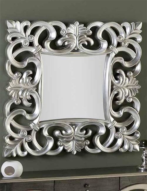 espejo cuadrado barroco