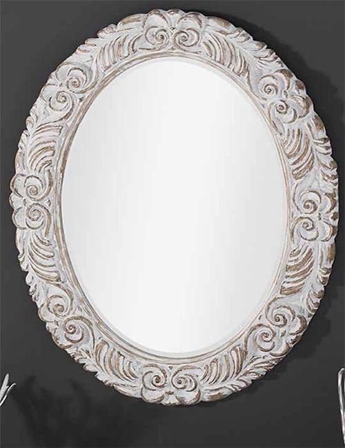 Espejo ovalado madera vieja ideal para dar elegancia a tu for Espejo ovalado de pie