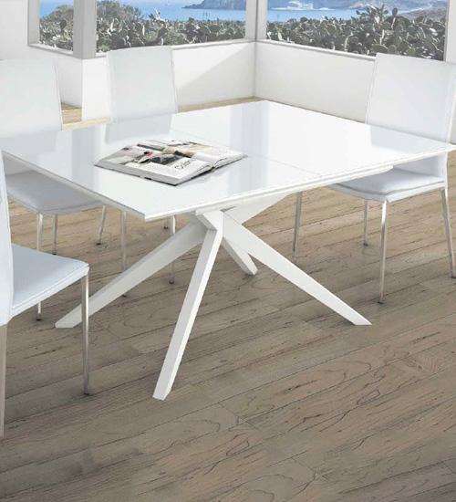 Mesa de cristal blanco perfecta para decoraciones con - Mesa cristal blanco ...