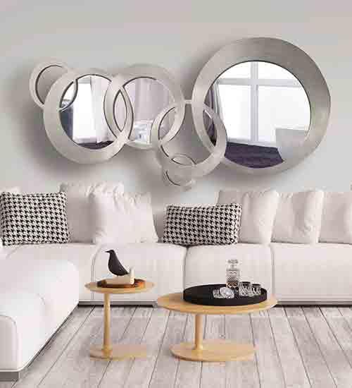 Espejo dise o italiano esferas art culo dis arte nico for Oferta espejo pared
