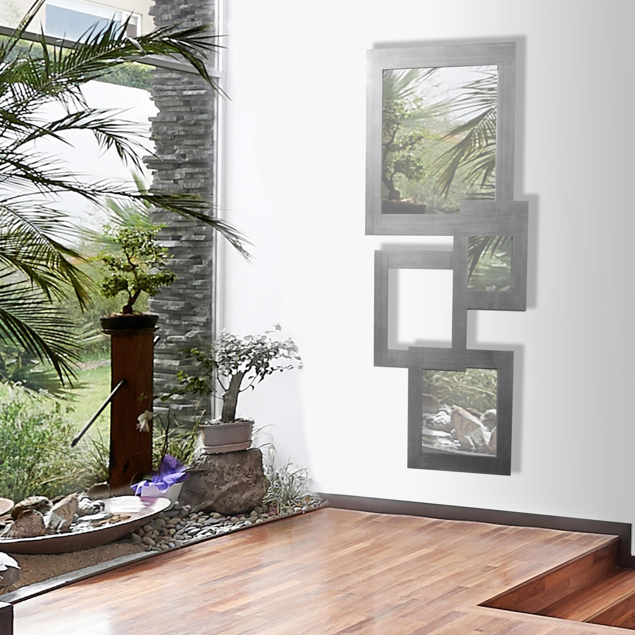 Espejo pared flovic plata dis arte para la decoraci n de - Espejos diseno italiano ...