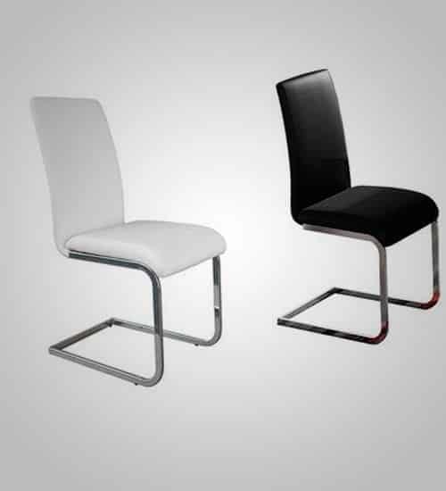 silla decorativa en ecopiel perfecta para comedores modernos