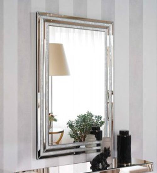 Espejo en cristal rectangular para colgar for Espejos para colgar