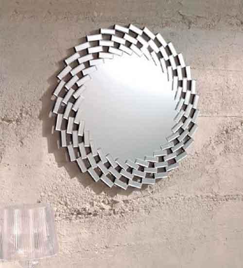 Espejo moderno decorativo para pared for Cristal espejo