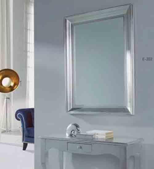 Espejo moderno en pan de plata original for Espejos modernos baratos
