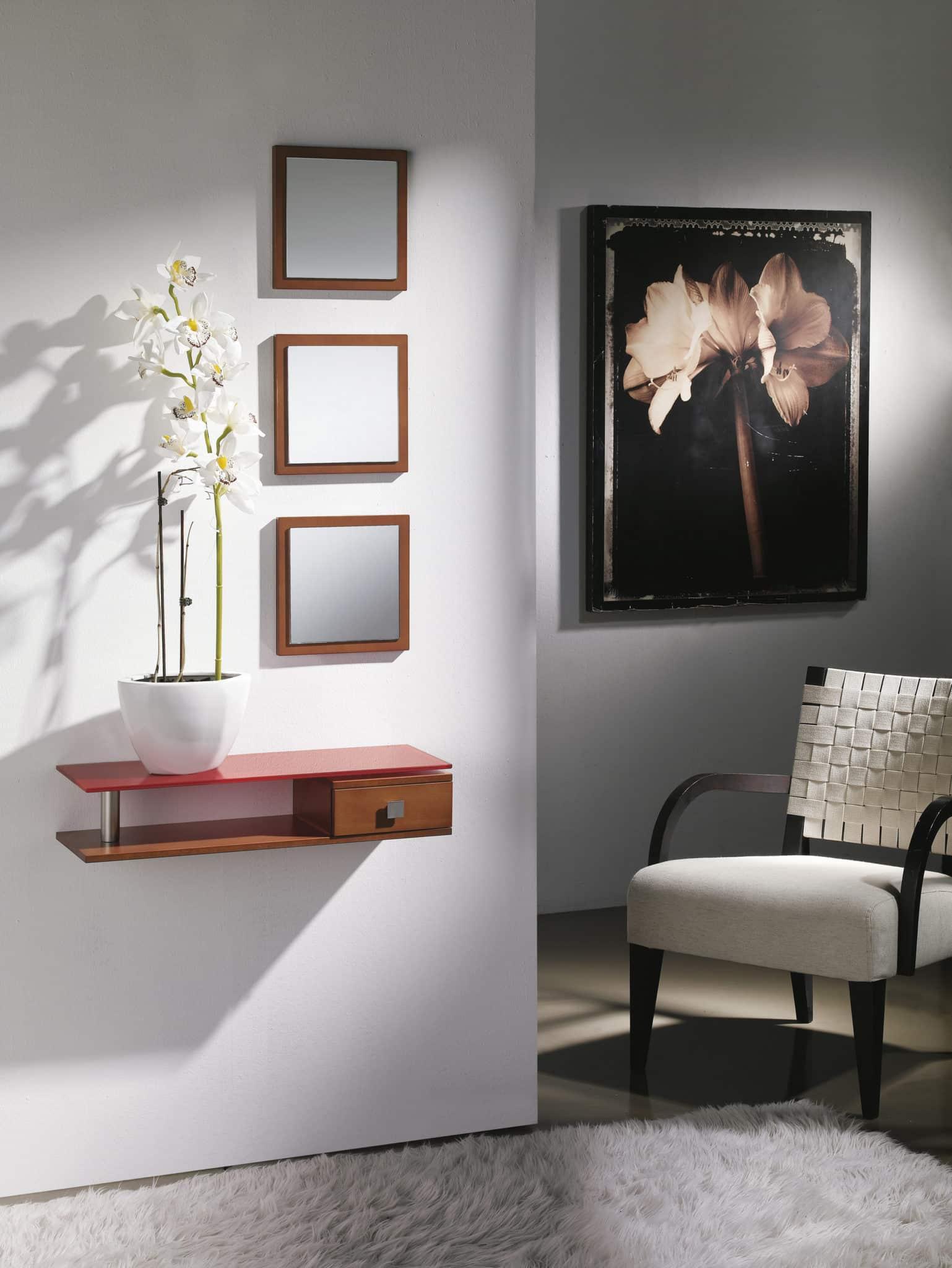 Muebles De Peluqueria Baratos : Recibidor elegante con cajon y estante