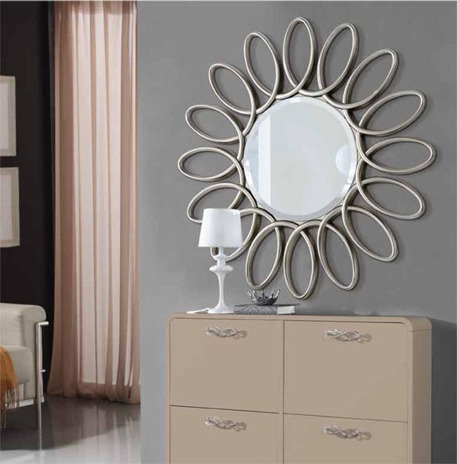 Espejo amsterdam plata perfecto para dar elegancia y for Espejo pared plata