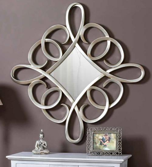 Espejo angular plateado para decoraciones diferentes y - Recibidores de diseno italiano ...