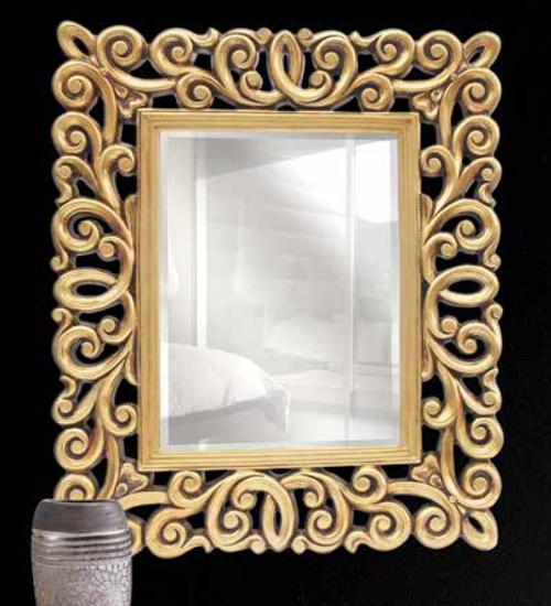 Espejo dorado manila decoraci n con espejos dorados de for Espejos decorativos dorados