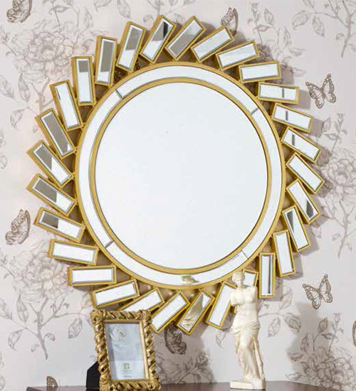 Espejo dorado marina para decoraciones diferentes y for Espejos decorativos dorados