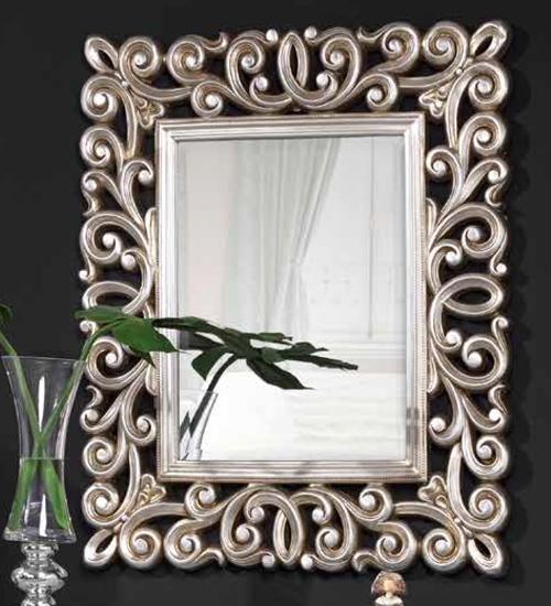 Espejo plata amsterdam decoraci n con espejos dorados de for Espejo pared plata