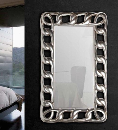 Espejo plateado cadenas para decoraciones diferentes y - Recibidores de diseno italiano ...