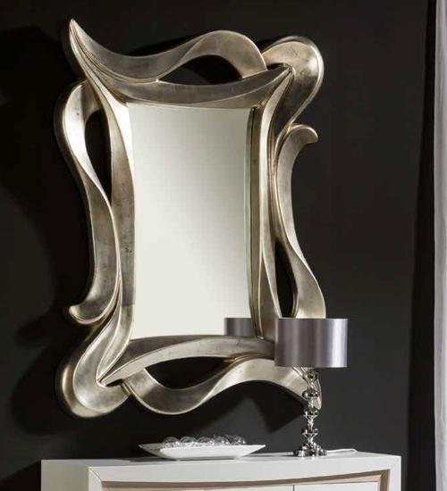 Espejo plateado garona para decoraciones diferentes y for Espejo rectangular plateado