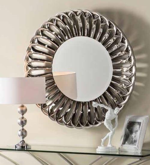 Espejo redondo caucaso para decoraciones diferentes y for Espejos redondos modernos