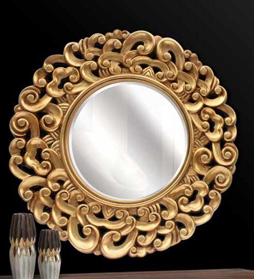 Espejo redondo manila decoraci n con espejos dorados de for Espejos dorados baratos