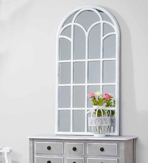 Espejo ventana blanco decoraci n original y nica para tu for Espejos para salon comedor