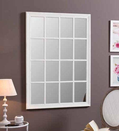 Espejo ventana cuadros decoraci n original y nica para for Espejos decorativos blancos