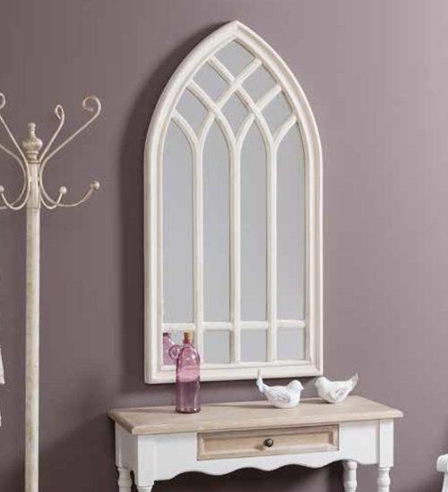 Espejo ventana gotic decoraci n original y nica para tu for Espejos decorativos blancos