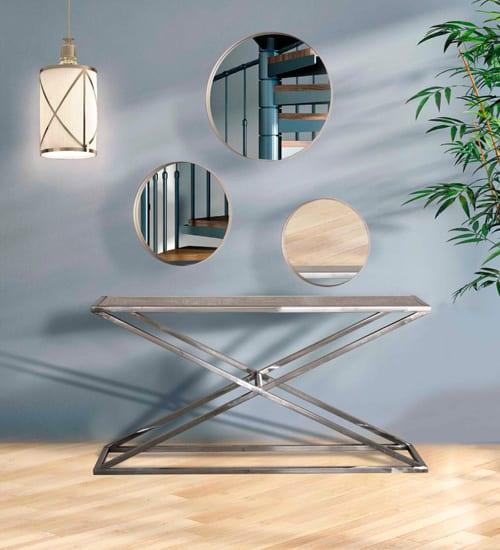 Espejos redondos elsa espejo decorativo italiano para for Espejos redondos modernos