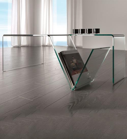 Mesa despacho cristal mirius dise o italiano para la for Mesas de despacho modernas