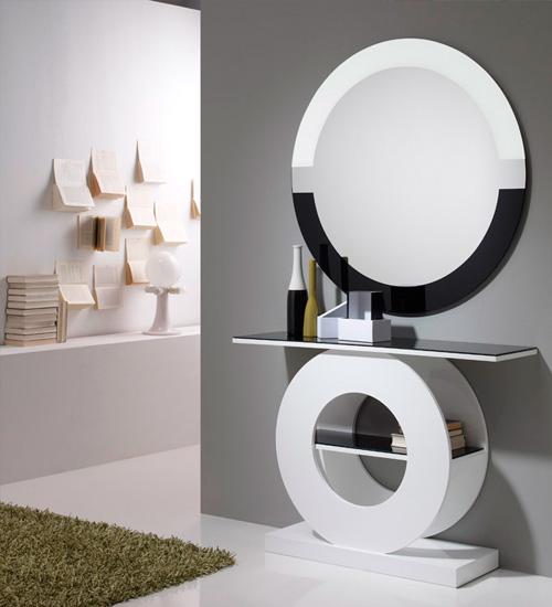 Recibidor de dise o atenea perfecta consola para la for Espejos de diseno para recibidor
