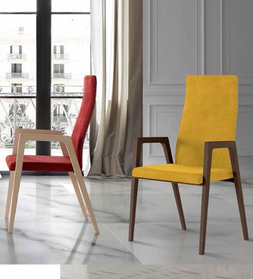 sillas de comedor o sillas de salón, tapizadas, alta calidad y diseño SILLA NACHER IGNI WOOD B
