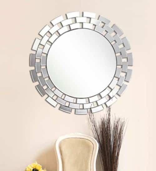 Espejo cristal redondo herdasa espejo decorativo de for Espejos modernos baratos