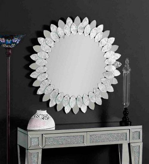 Espejo girasol plata archivos espejos de pared for Espejo pared plata