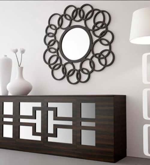 Consola barcelona coi recto coim recibidor moderno con for Espejos decorativos con formas