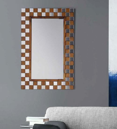 Espejo recibidor silver archivos espejos de pared for Espejo rectangular grande