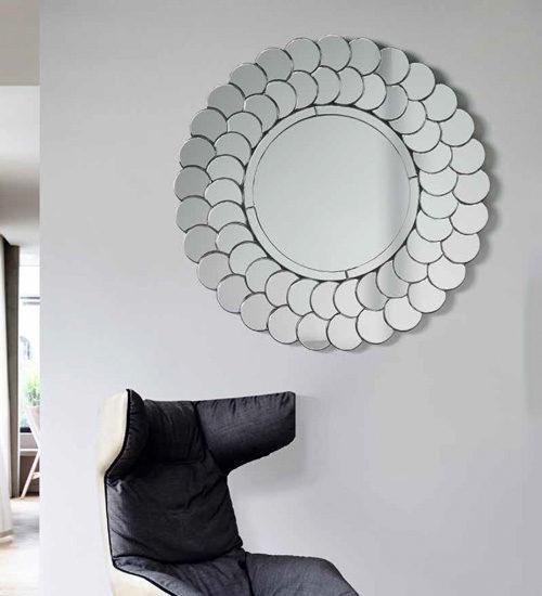 Espejo redondo hispanohogar espejo decorativo de dise o for Espejo redondo recibidor