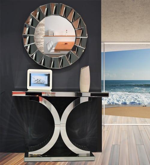 Consola espejo c c decorativo ideal para hogares con for Espejos para consolas
