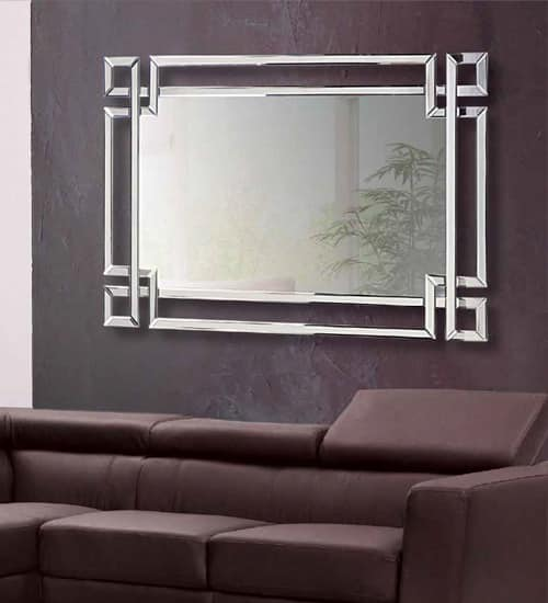 Espejo comedor aral espejo decorativo de dise o italiano for Espejos rectangulares para comedor