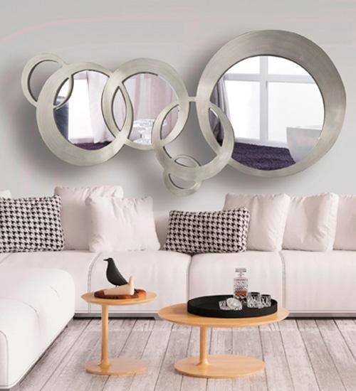 Espejo Moderno Bruselas diseño italiano de esferas, Espejos de diseño Italiano para decorar tu comedor.