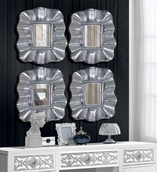 Espejo peque o platino espejo decorativo de dise o - Espejos diseno italiano ...