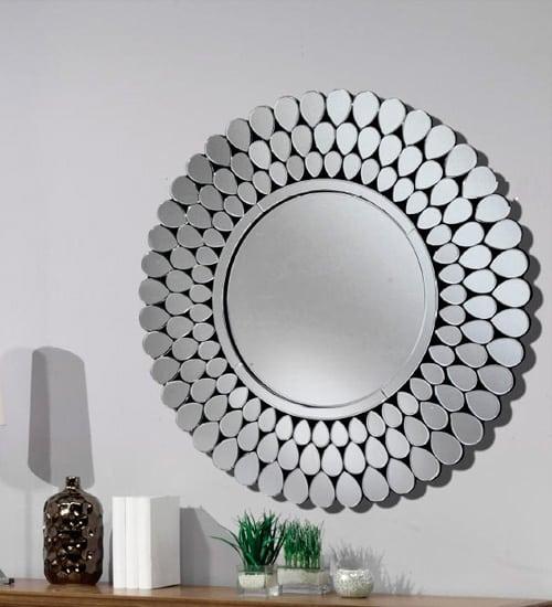 Espejo redondo cristal mobimundo espejo decorativo de for Espejos originales para entrada