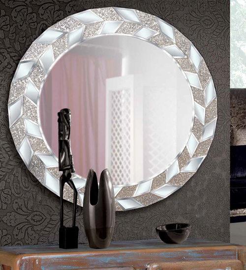 Espejo Redondo Pinking Espejo Decorativo De Dise O