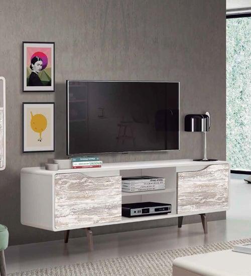 Mesa television retro mueble auxiliar ideal para poner for Mesas para tv modernas