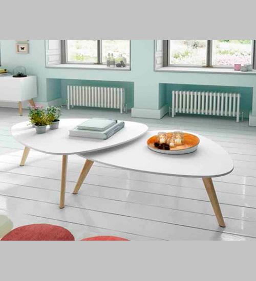 Set de mesas suecia dugar home mueble auxiliar ideal para for Mesas diseno italiano