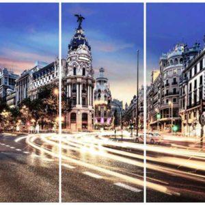3 Laminas fotografia en cristal MADRID